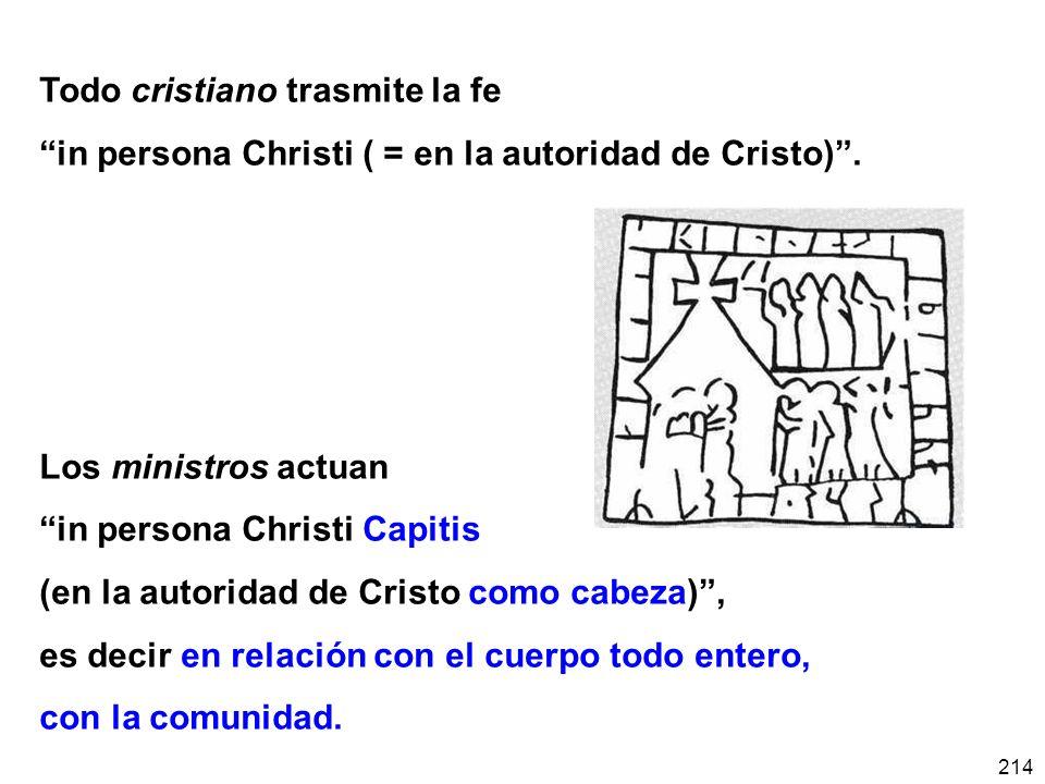Todo cristiano trasmite la fe