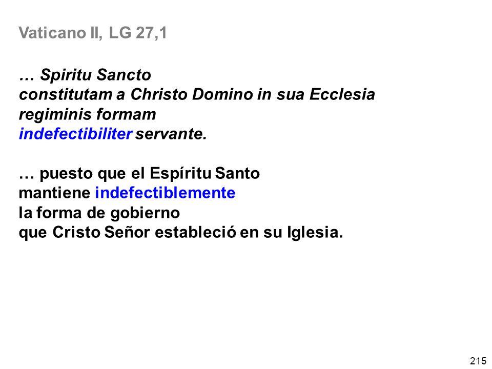 Vaticano II, LG 27,1 … Spiritu Sancto. constitutam a Christo Domino in sua Ecclesia. regiminis formam.