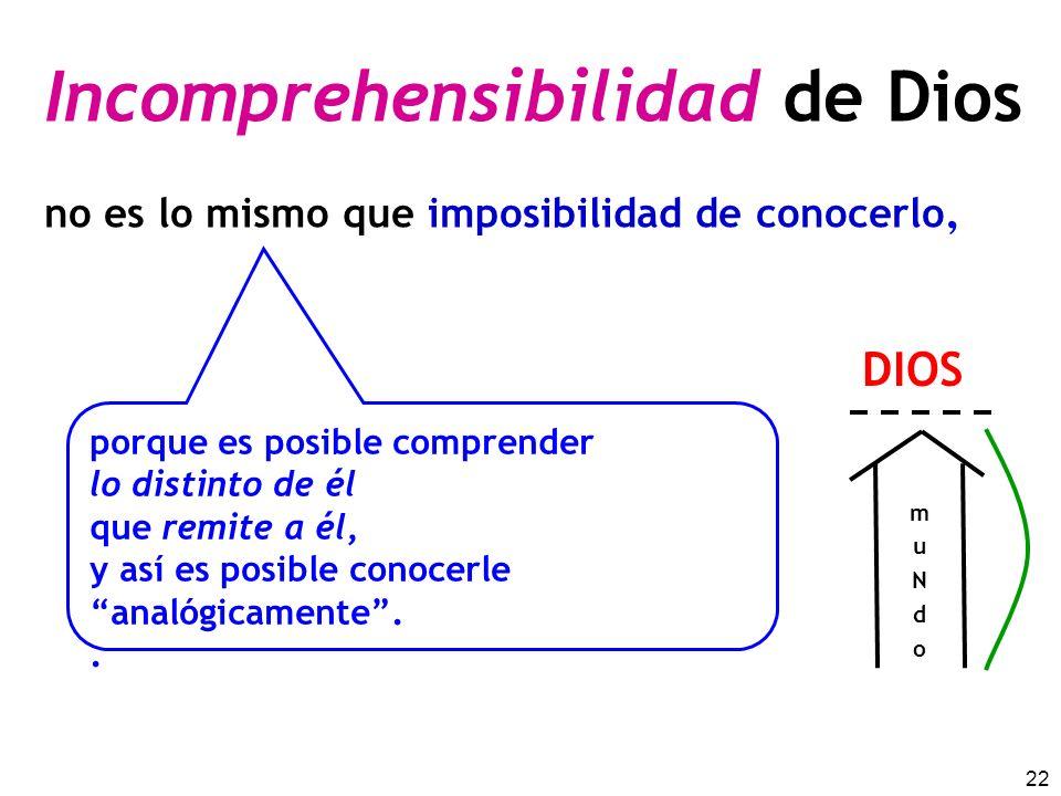 Incomprehensibilidad de Dios