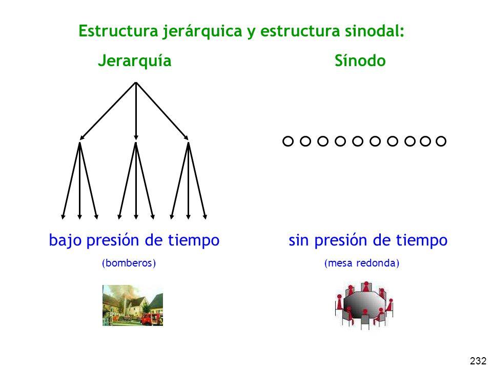 Estructura jerárquica y estructura sinodal: