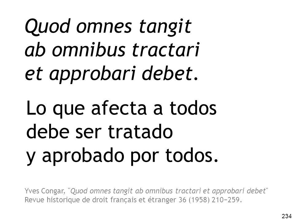 Quod omnes tangit ab omnibus tractari et approbari debet.