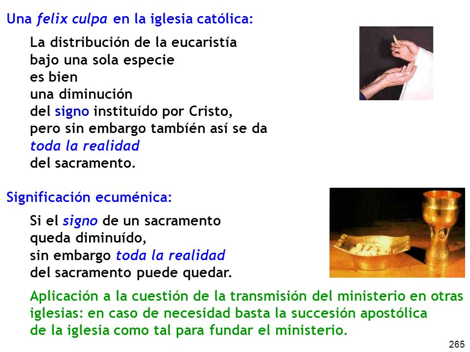 Una felix culpa en la iglesia católica:
