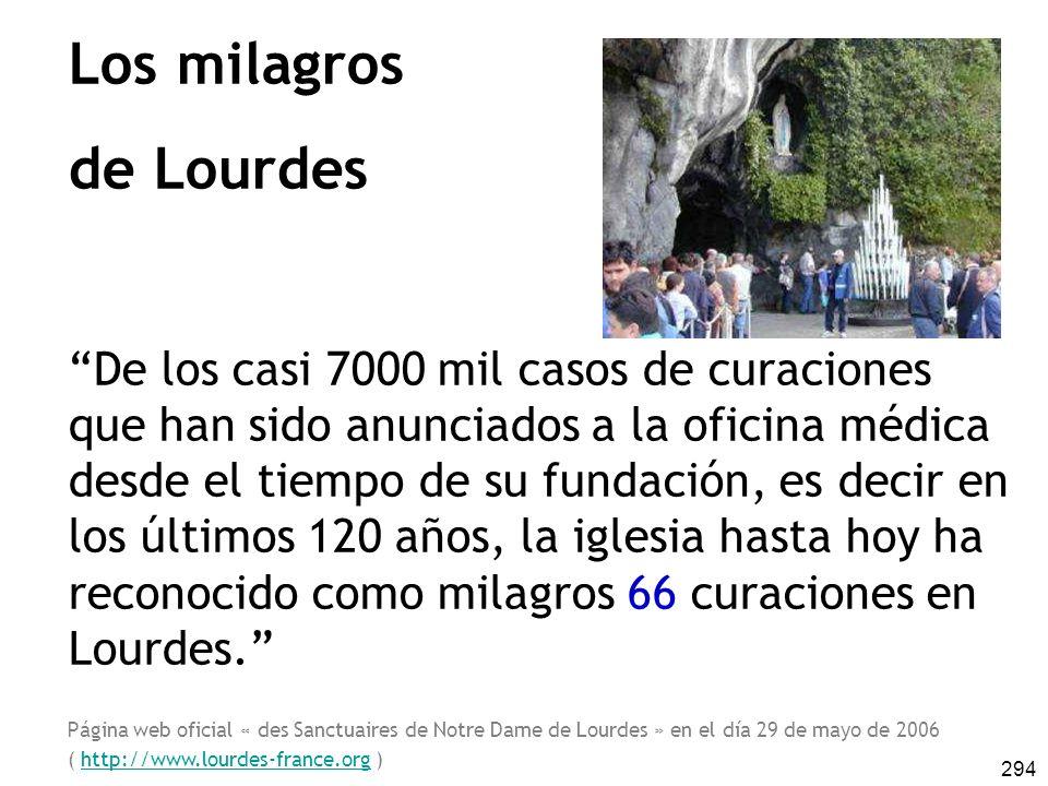Los milagros de Lourdes
