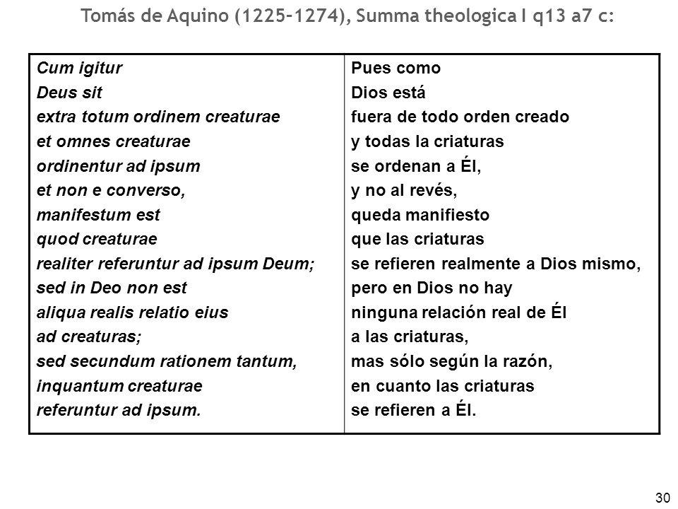 Tomás de Aquino (1225–1274), Summa theologica I q13 a7 c: