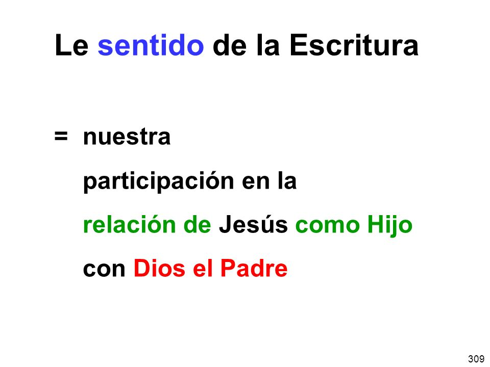 Le sentido de la Escritura