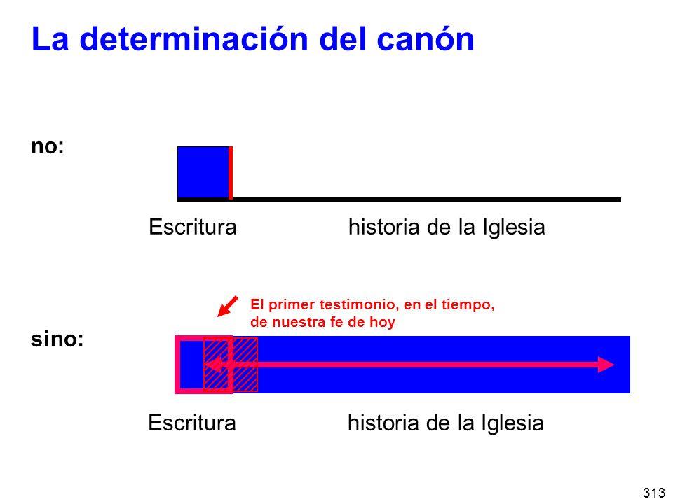 La determinación del canón