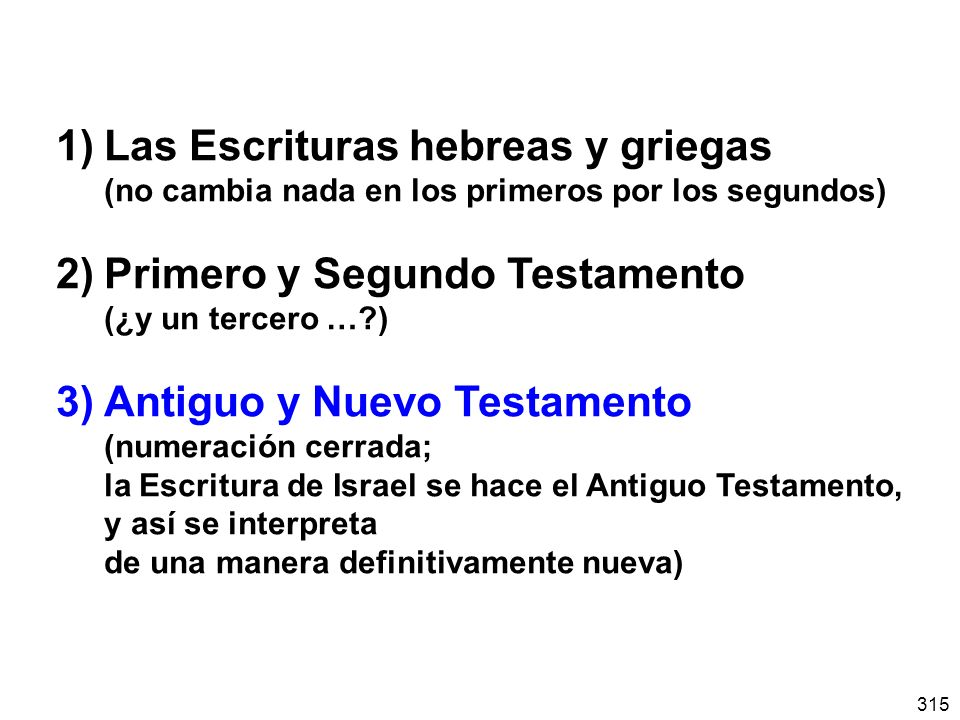 1) Las Escrituras hebreas y griegas