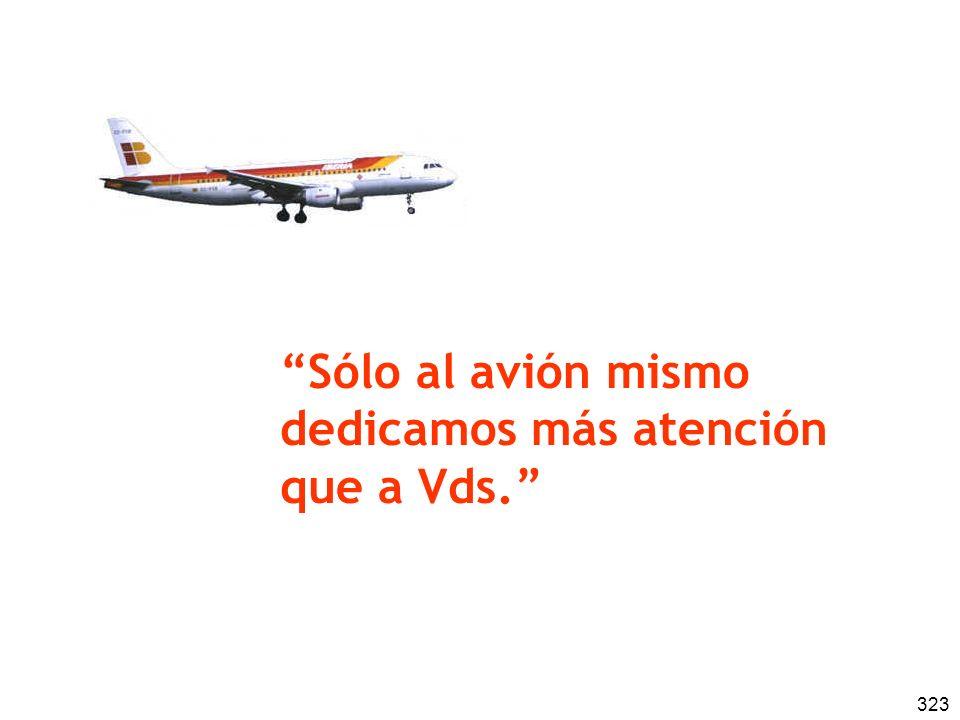 Sólo al avión mismo dedicamos más atención que a Vds.