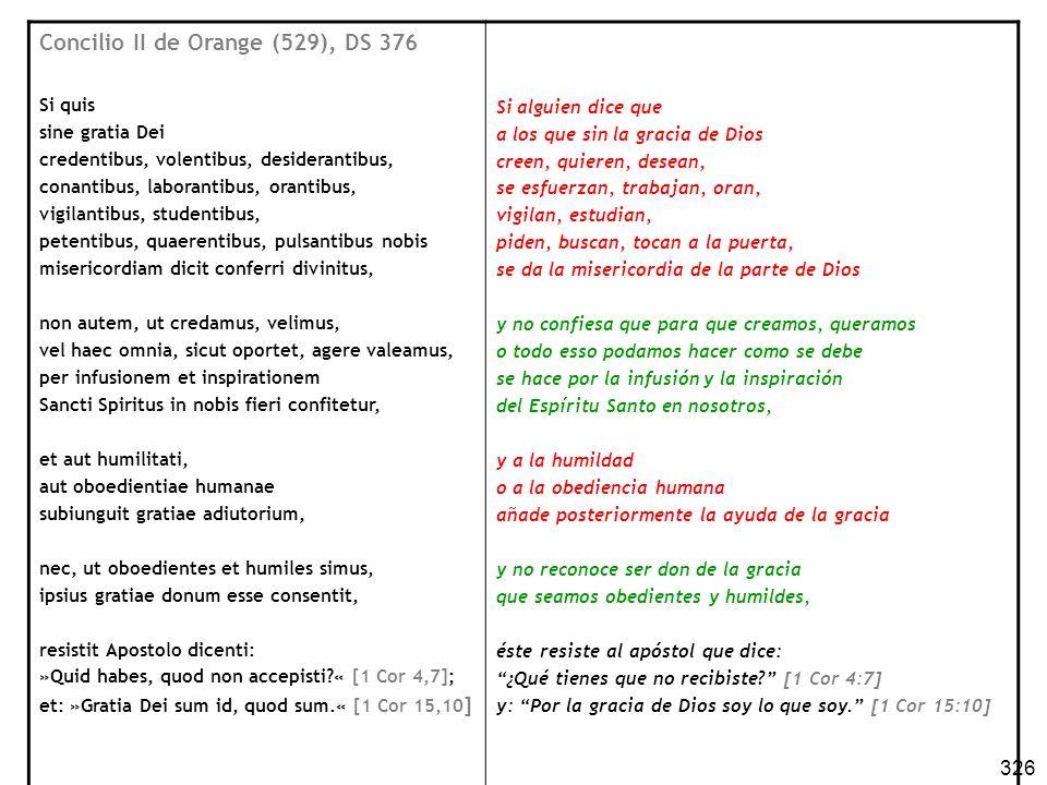 Concilio II de Orange (529), DS 376
