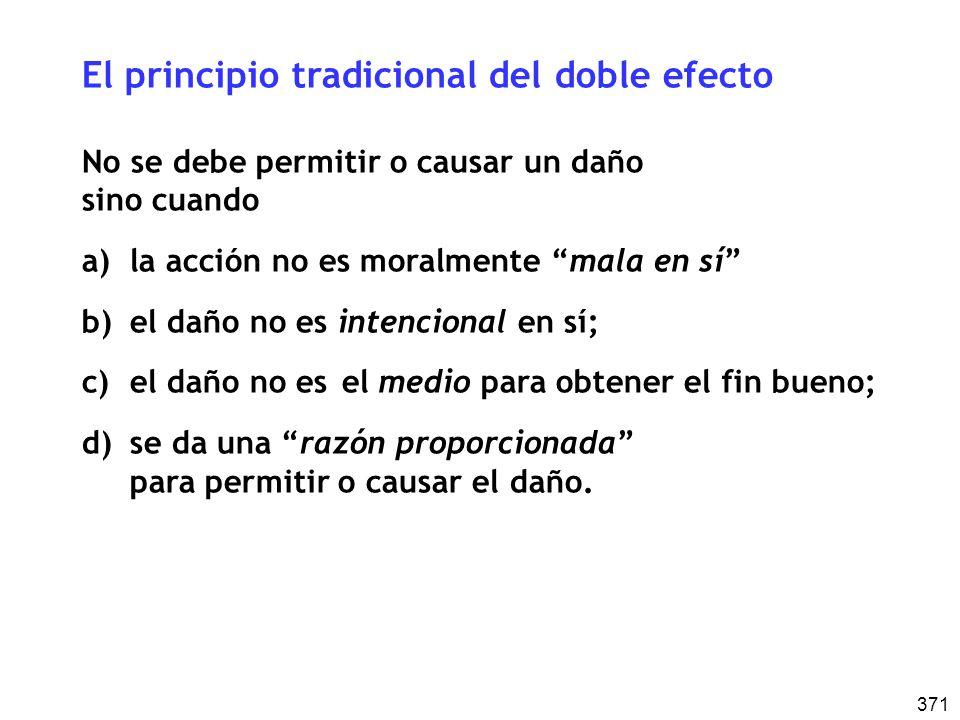 El principio tradicional del doble efecto