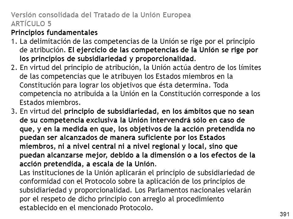 Versión consolidada del Tratado de la Unión Europea