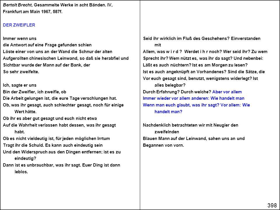 Bertolt Brecht, Gesammelte Werke in acht Bänden. IV,