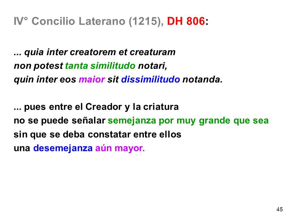 IV° Concilio Laterano (1215), DH 806: