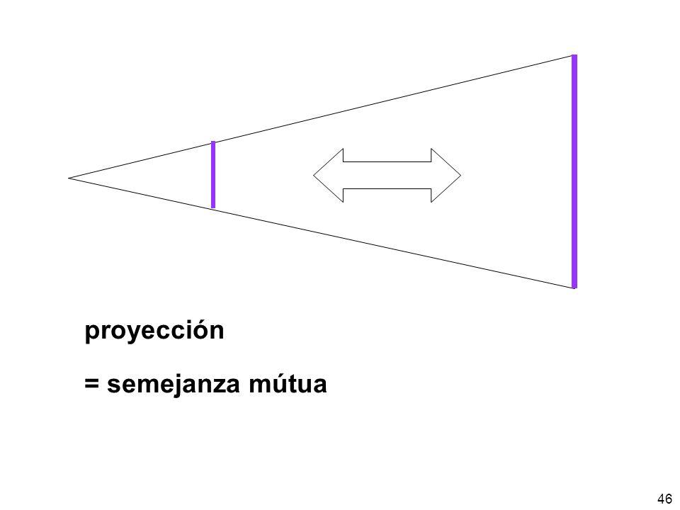 proyección = semejanza mútua