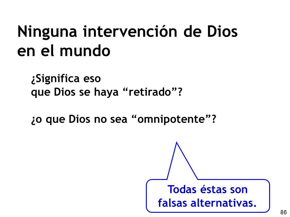 Ninguna intervención de Dios en el mundo