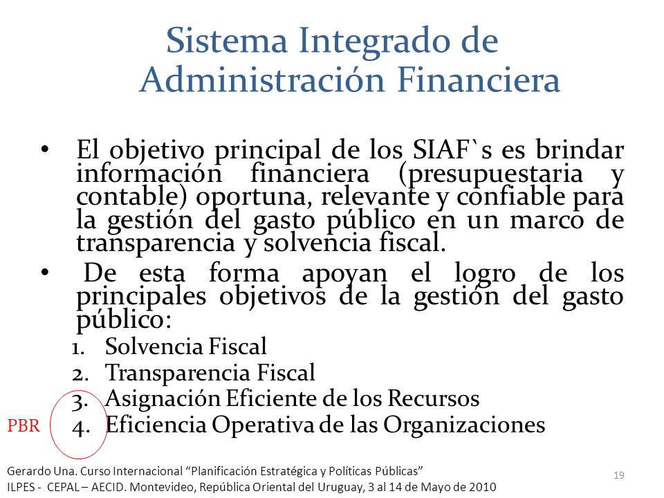 Sistema Integrado de Administración Financiera