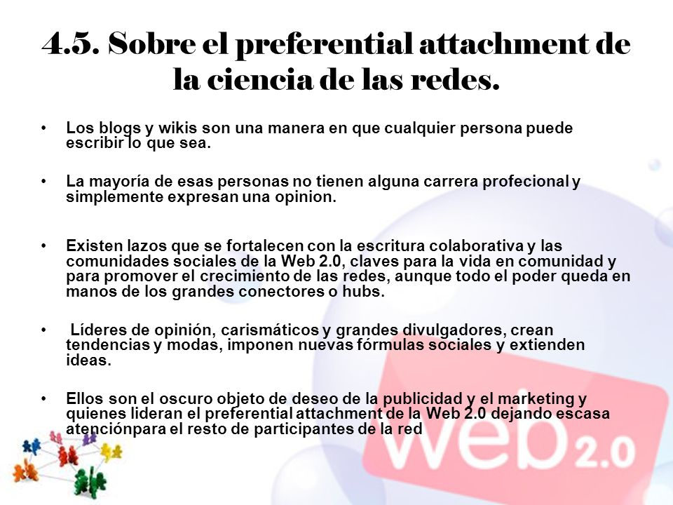 4.5. Sobre el preferential attachment de la ciencia de las redes.