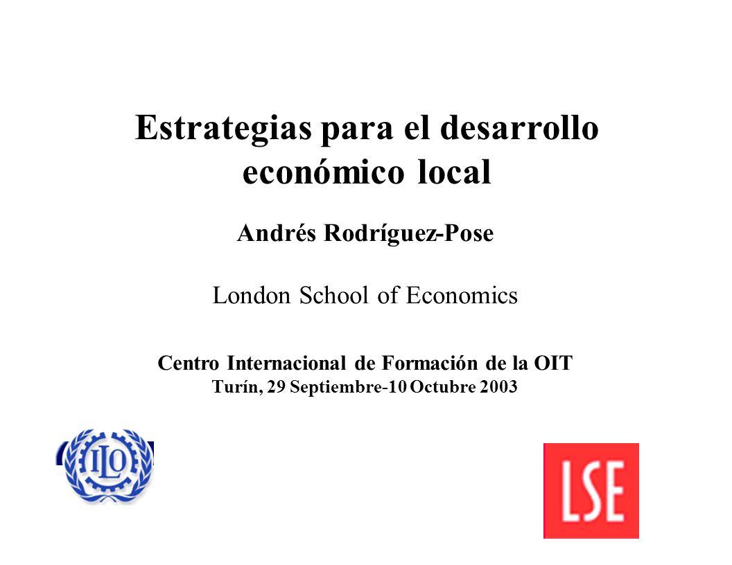 Estrategias para el desarrollo económico local