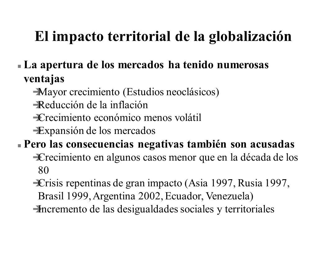 El impacto territorial de la globalización