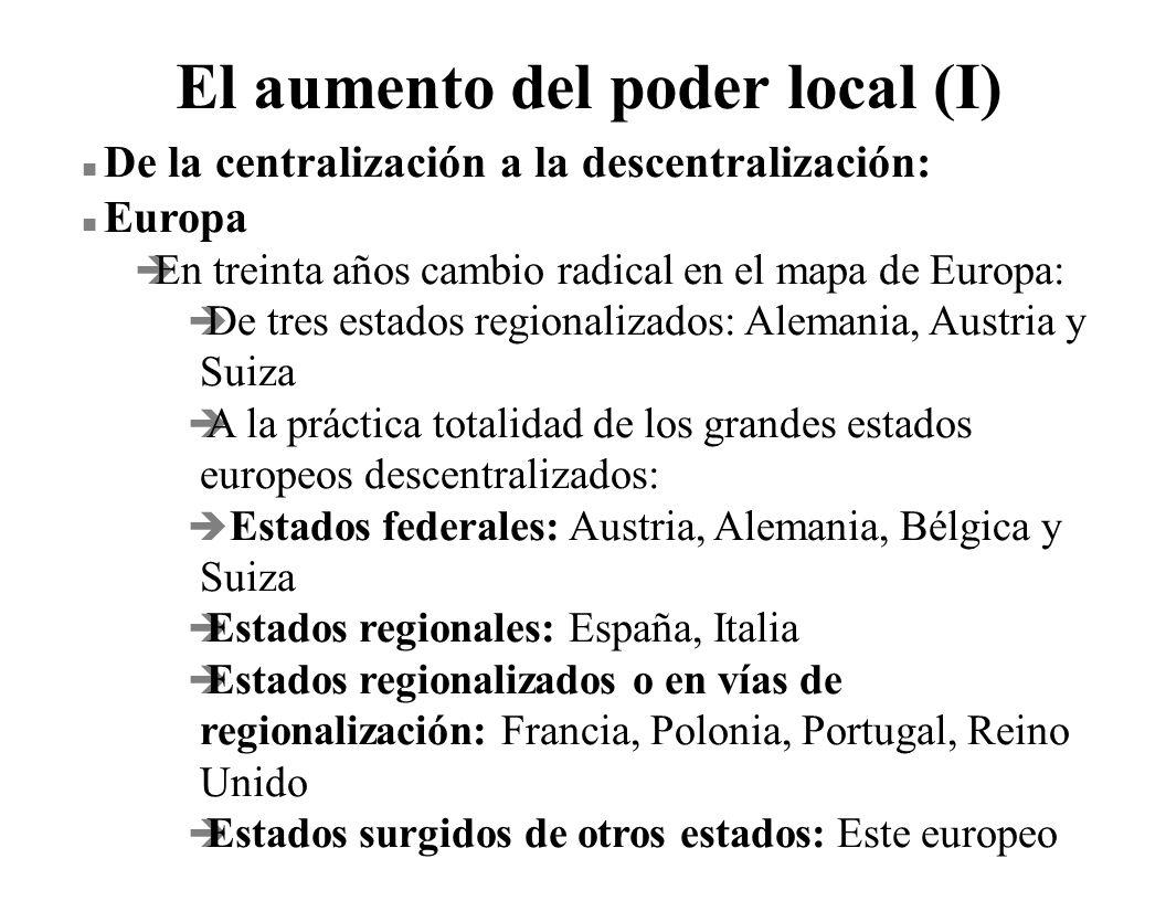 El aumento del poder local (I)