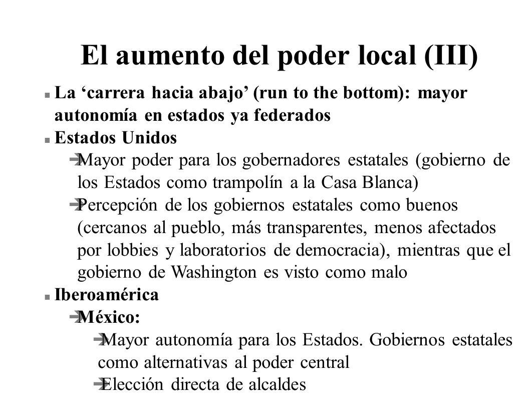 El aumento del poder local (III)