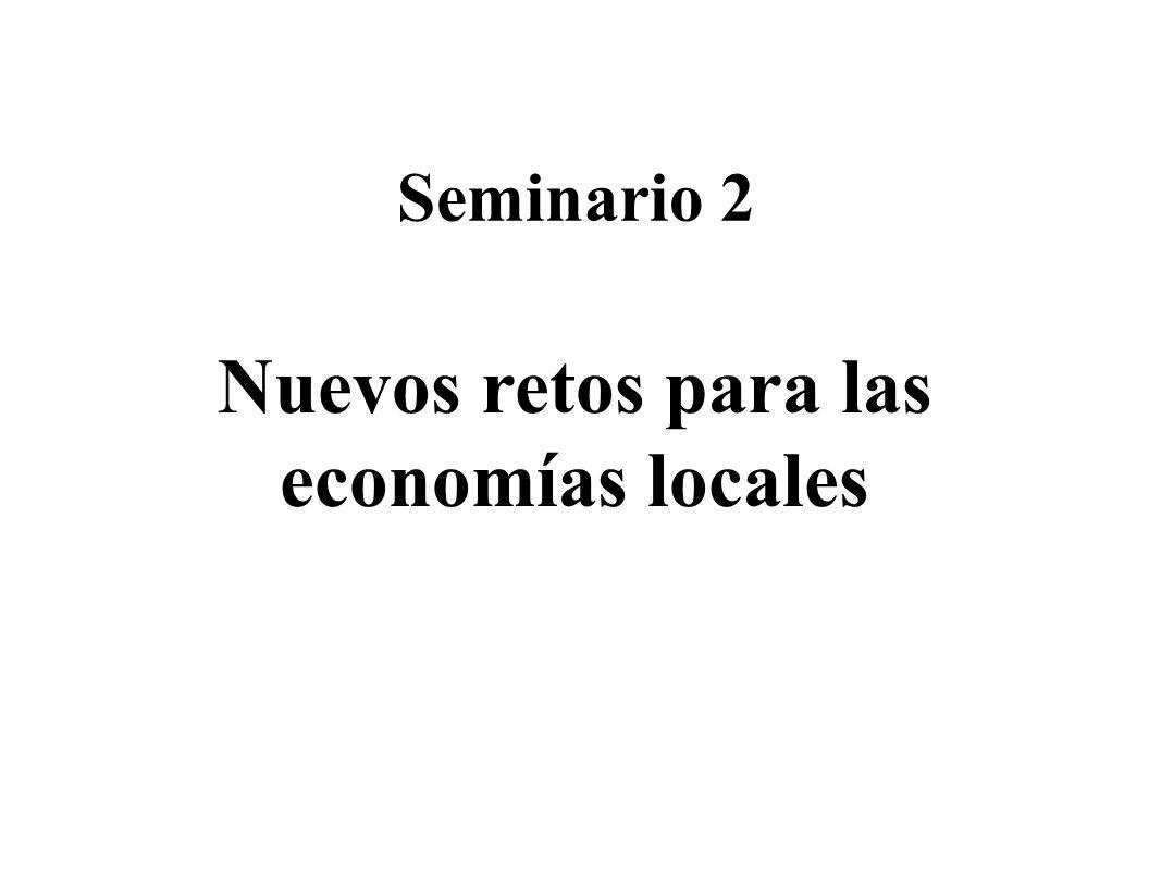 Nuevos retos para las economías locales