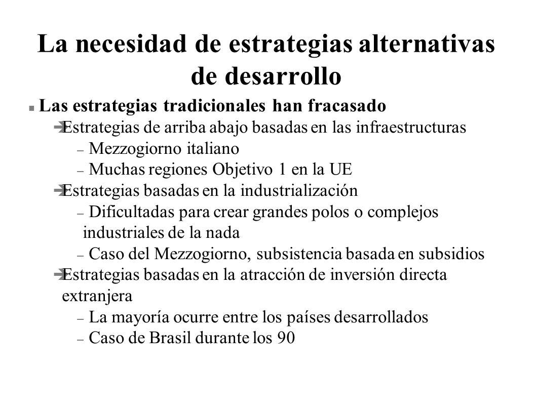 La necesidad de estrategias alternativas de desarrollo