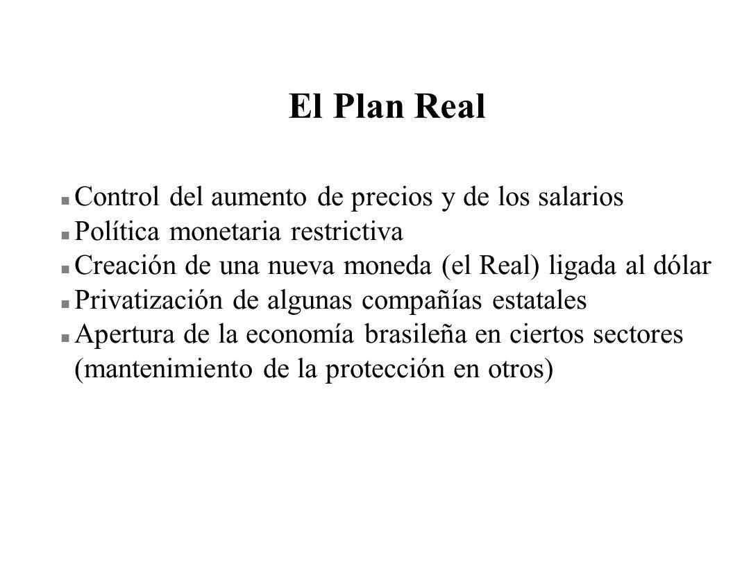 El Plan Real Control del aumento de precios y de los salarios