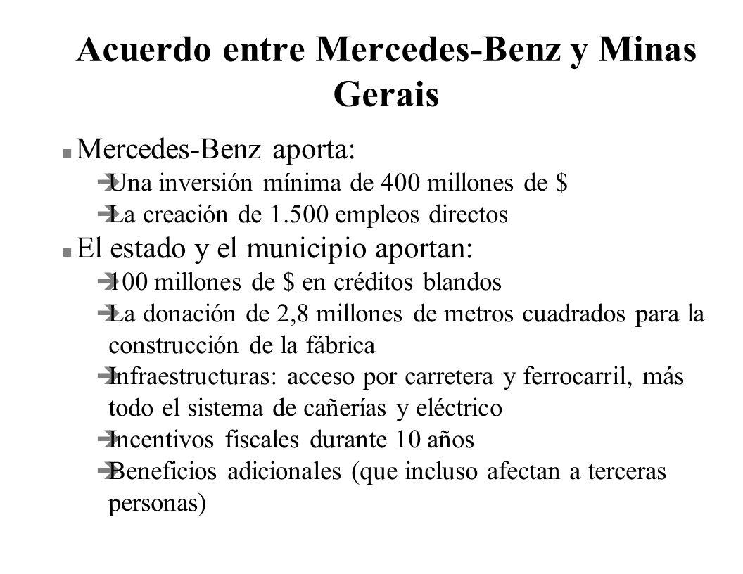 Acuerdo entre Mercedes-Benz y Minas Gerais