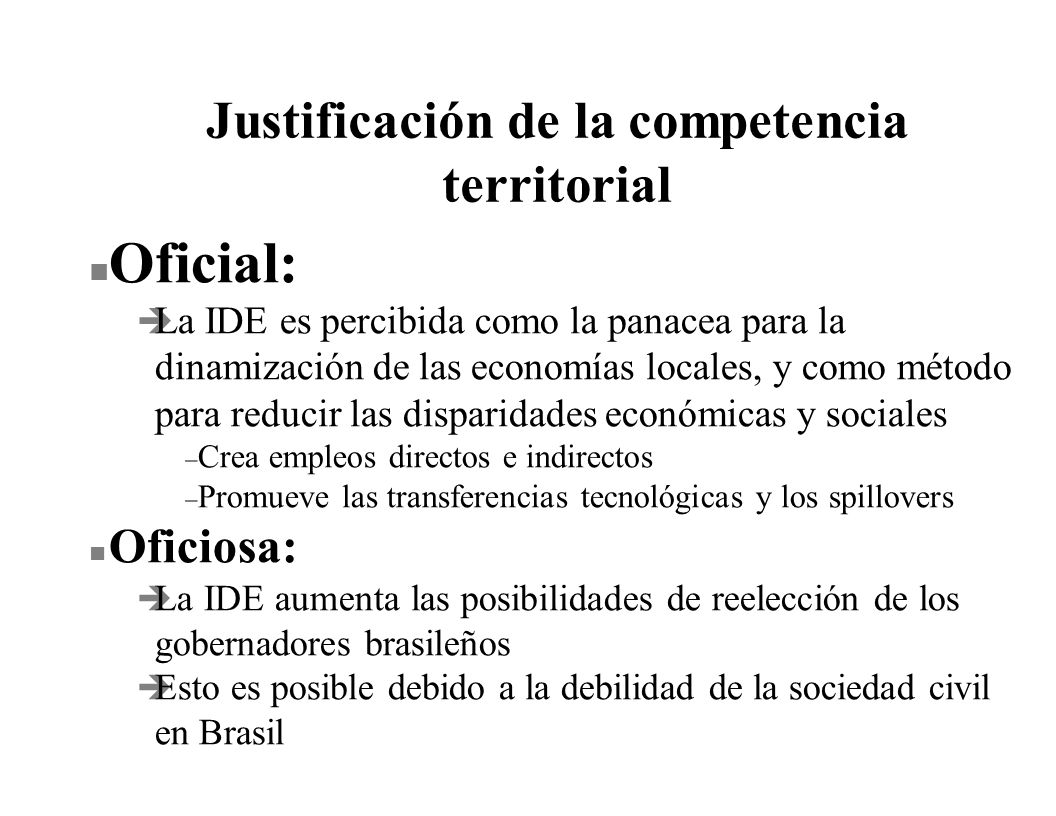 Justificación de la competencia territorial