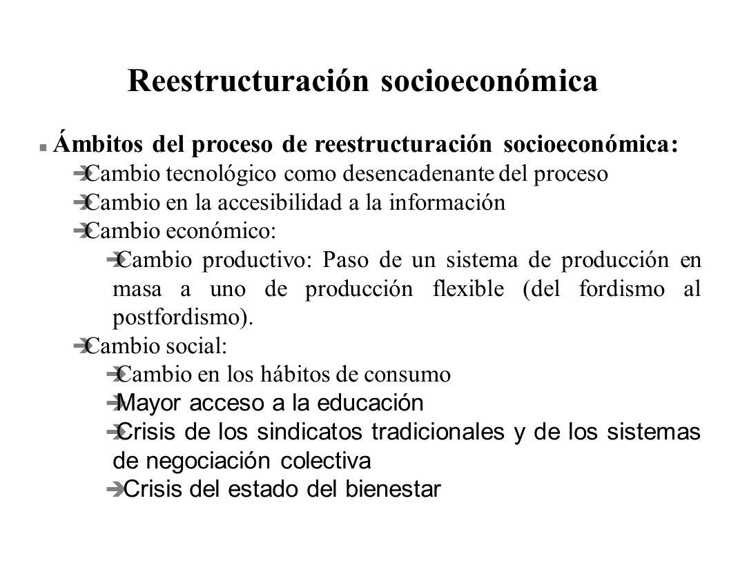 Reestructuración socioeconómica