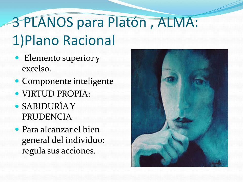 3 PLANOS para Platón , ALMA: 1)Plano Racional
