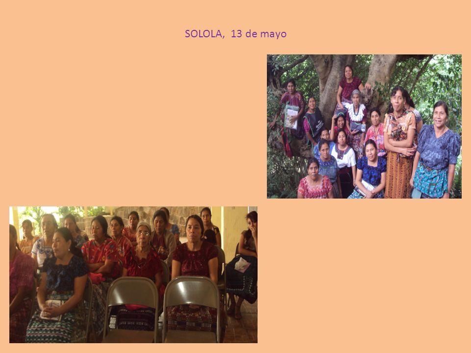 SOLOLA, 13 de mayo