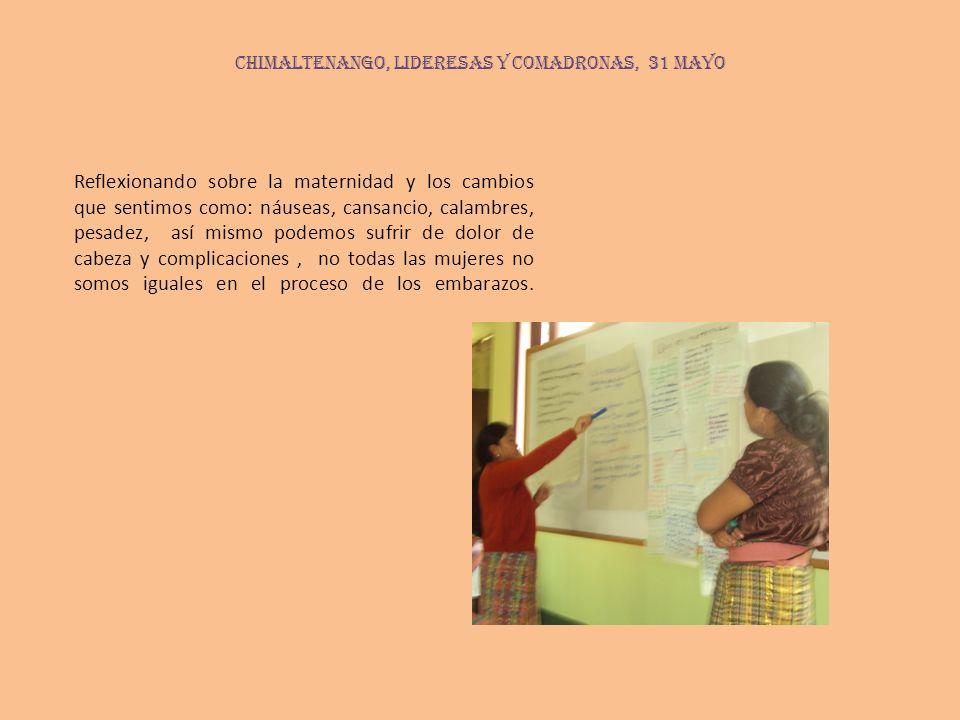 CHIMALTENANGO, lideresas y comadronas, 31 mayo