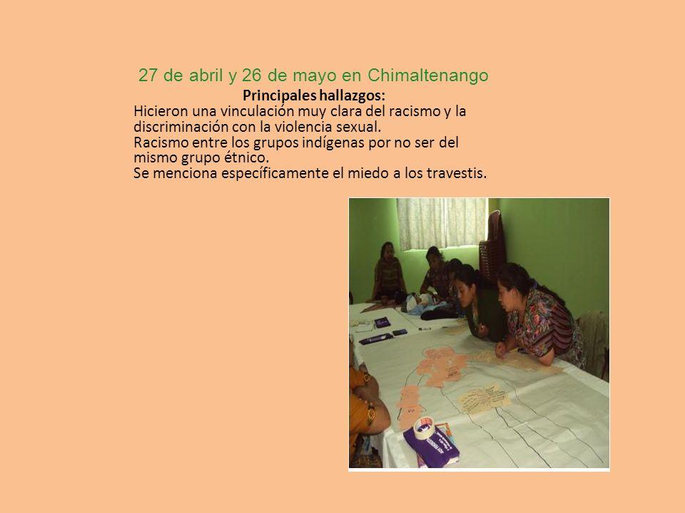 27 de abril y 26 de mayo en Chimaltenango