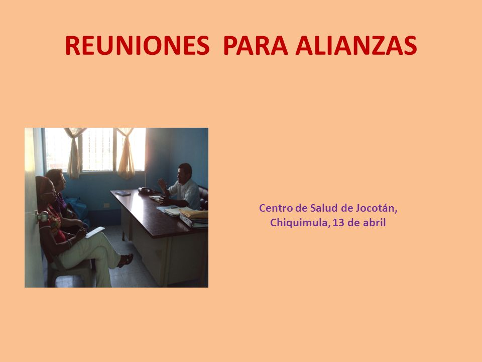 REUNIONES PARA ALIANZAS
