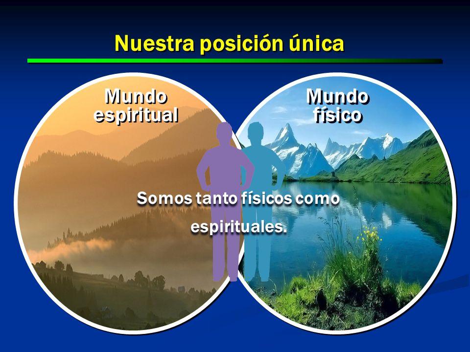Nuestra posición única Somos tanto físicos como espirituales.