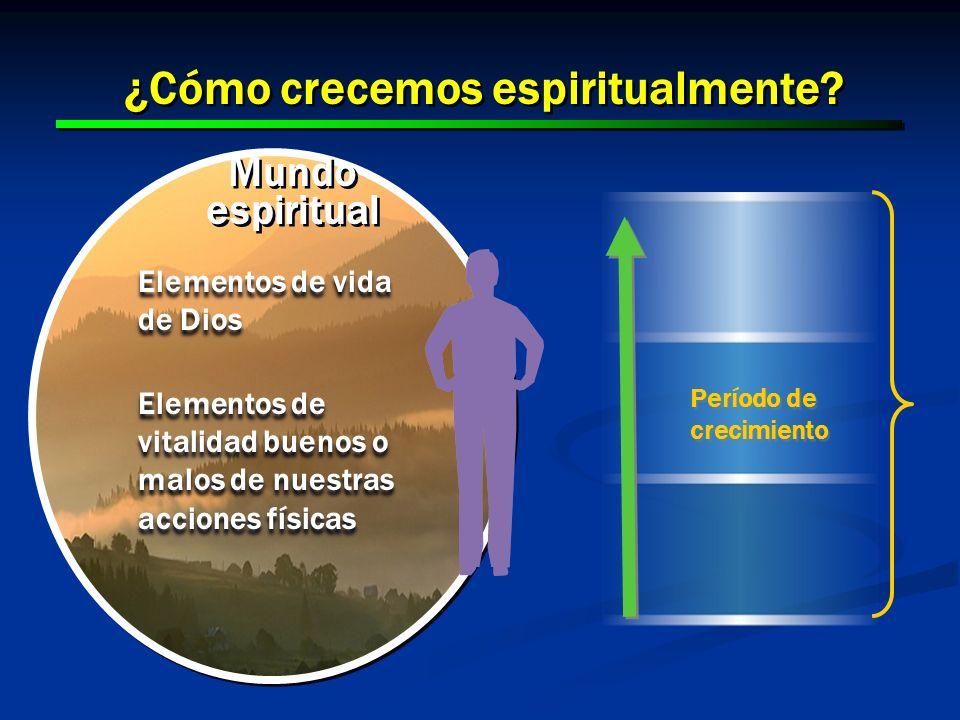 ¿Cómo crecemos espiritualmente