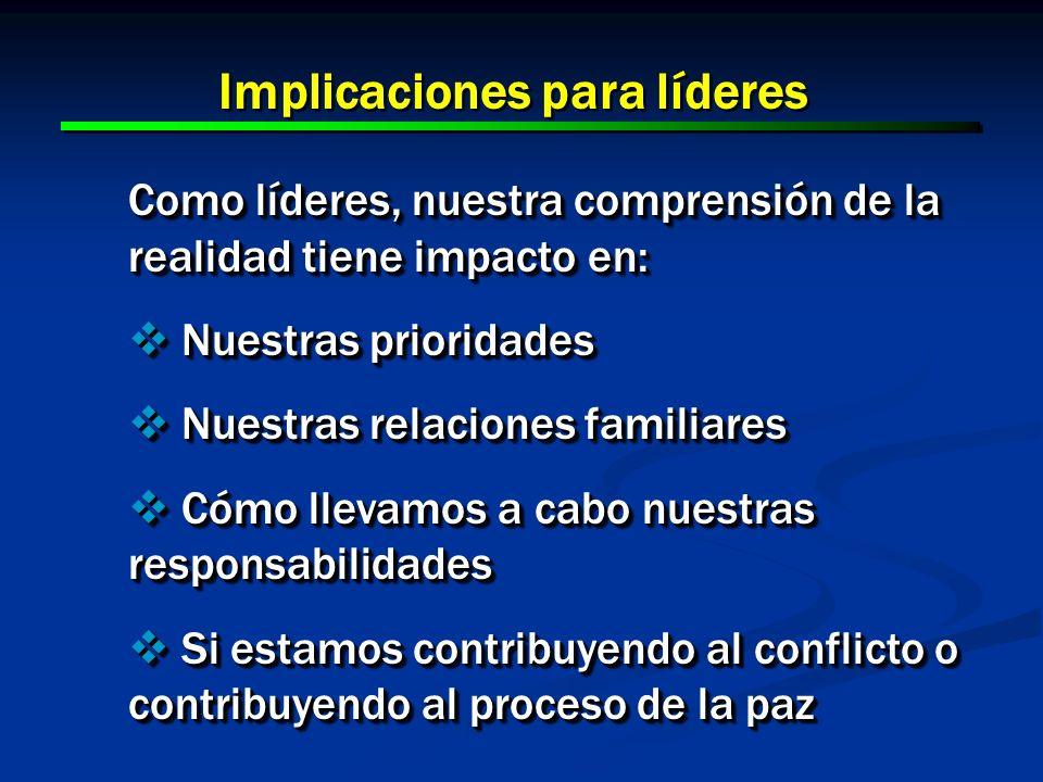 Implicaciones para líderes