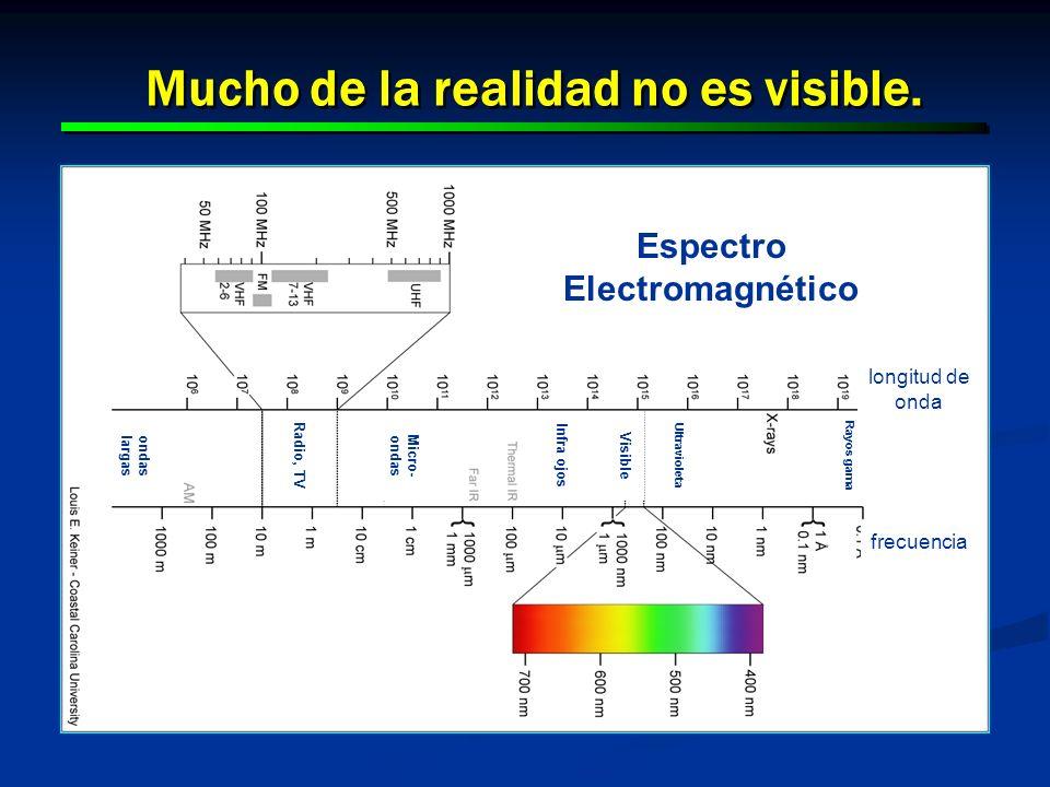 Mucho de la realidad no es visible. Espectro Electromagnético