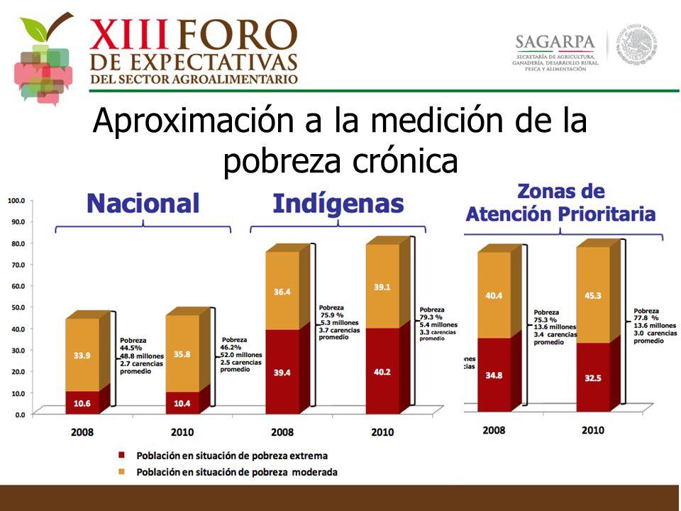 Aproximación a la medición de la pobreza crónica