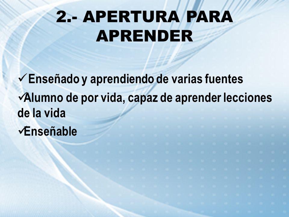 2.- APERTURA PARA APRENDER