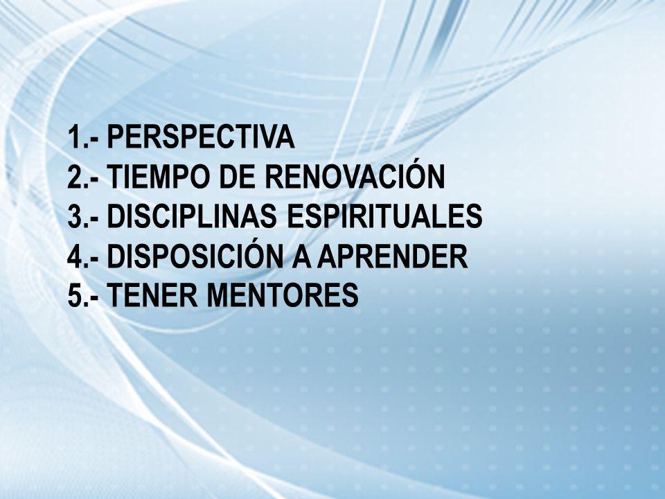 1. - PERSPECTIVA 2. - TIEMPO DE RENOVACIÓN 3