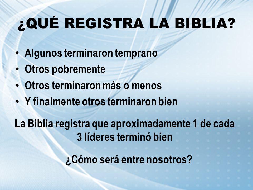 ¿QUÉ REGISTRA LA BIBLIA