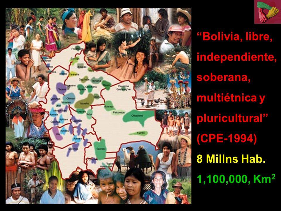 Bolivia, libre, independiente, soberana, multiétnica y pluricultural