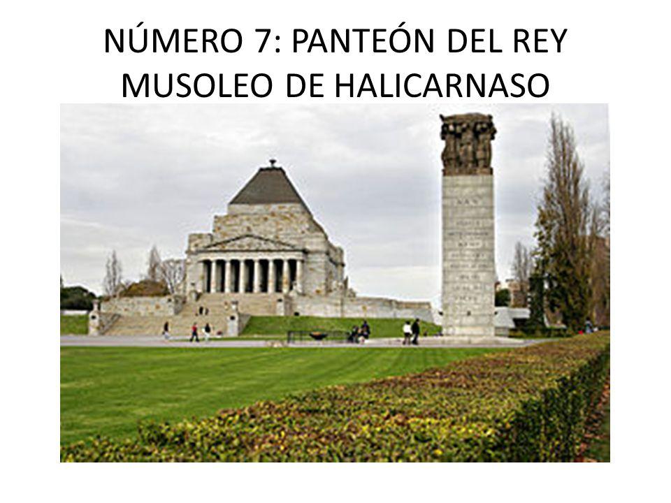 NÚMERO 7: PANTEÓN DEL REY MUSOLEO DE HALICARNASO