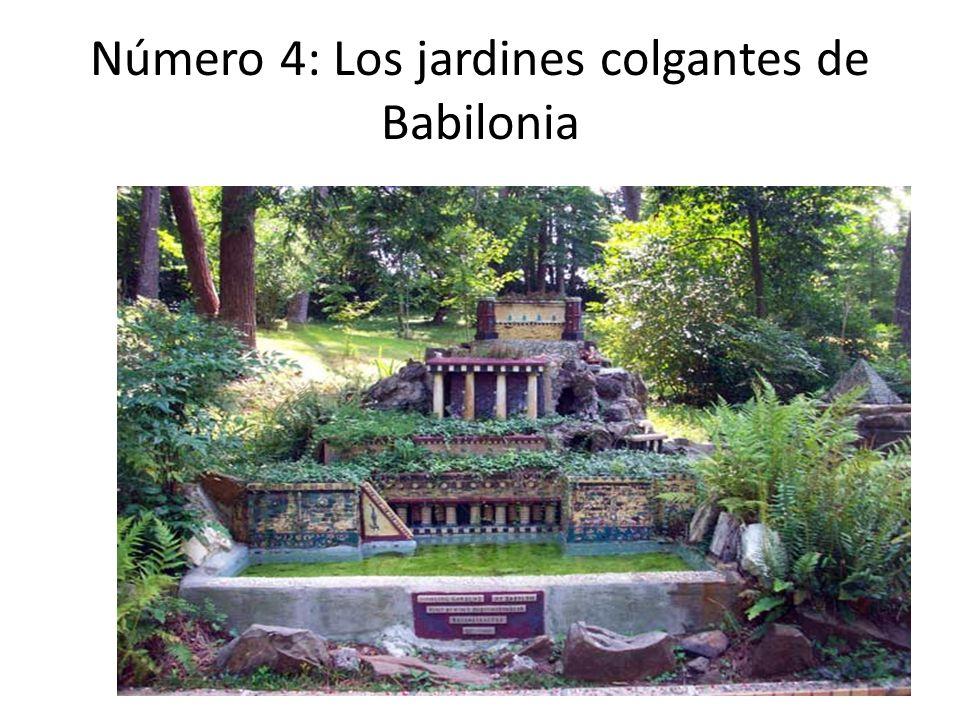 Número 4: Los jardines colgantes de Babilonia