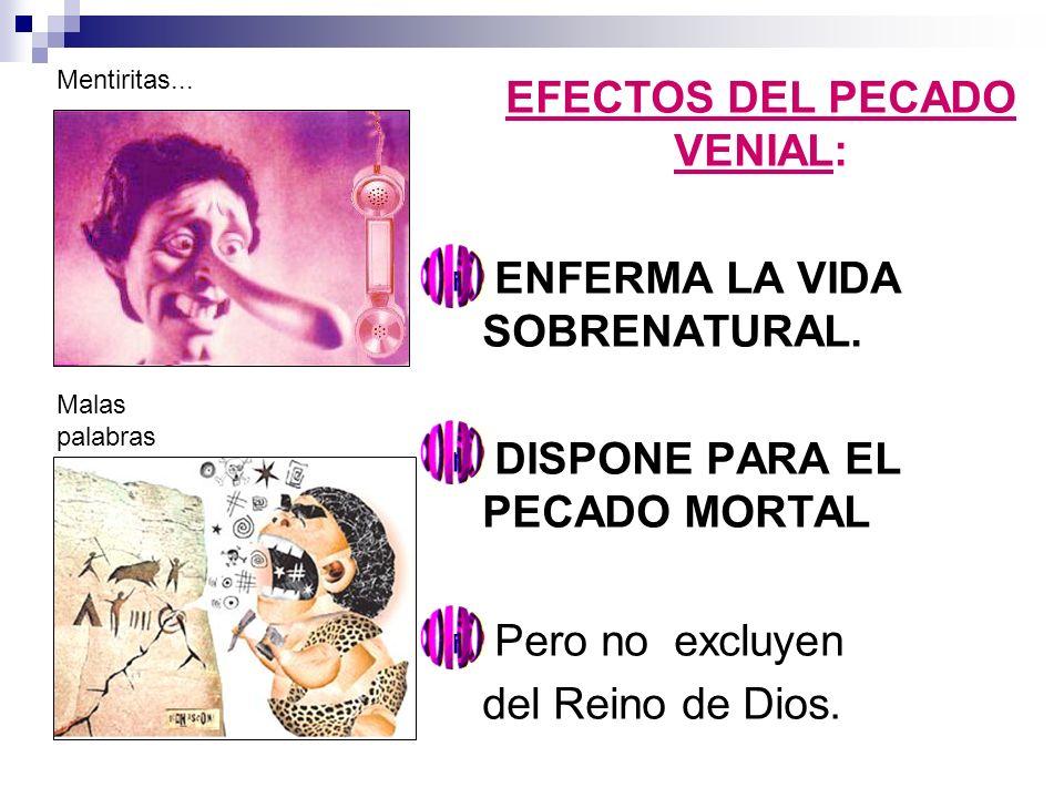 EFECTOS DEL PECADO VENIAL: