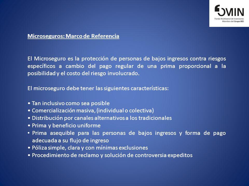 Microseguros: Marco de Referencia