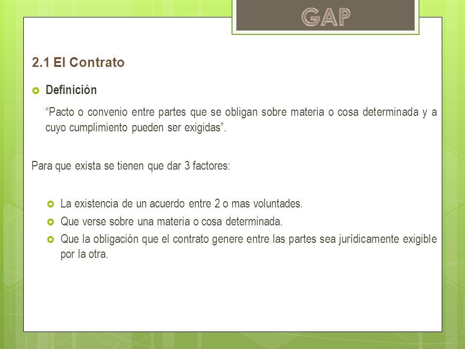 GAP 2.1 El Contrato. Definición.